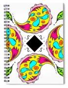 Paisley Flower Abstract Viii Spiral Notebook
