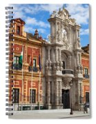 Palace Of San Telmo In Seville Spiral Notebook