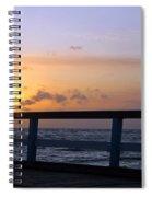Palanga Sea Bridge At Sunset. Lithuania Spiral Notebook