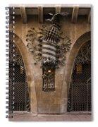 Palau Guell 1886 To 88 Gaudi Barcelona Spain Dsc01413 Spiral Notebook