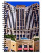 Palazzo Las Vegas Front View Spiral Notebook