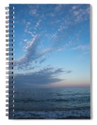 Pale Blues And Feathery Clouds In The Fading Light Spiral Notebook