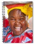 Palenquera In Cartagena Colombia Spiral Notebook
