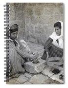 Palestine Grinding Coffee Spiral Notebook