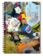 Palette Abstract Spiral Notebook