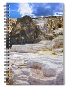 Palette Spring Terrace Panorama - Yellowstone National Park Wyoming Spiral Notebook