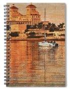 Palm Beach At Golden Hour Spiral Notebook