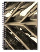 Palms E Sepia Spiral Notebook