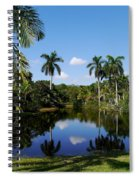 Palm Reflection And Shadow Spiral Notebook