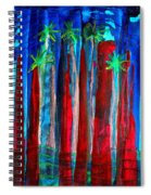 Palm Springs Nocturne Original Painting Spiral Notebook