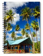 Palm Trees And Colorful Building Spiral Notebook