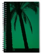 Palm Trees And Emerald Sky. Spiral Notebook
