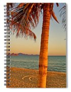 Palm Trees By A Restaurant On The Beach In Bahia Kino-sonora-mexico Spiral Notebook