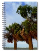 Palm Trees In The Wind Spiral Notebook
