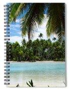 Palm Trees On The Beach, Rangiroa Spiral Notebook