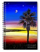 Palmetto Sunset Moon And Stars Spiral Notebook