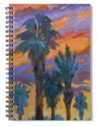 Palms And Sunset Spiral Notebook