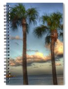 Palms At The Pier Spiral Notebook