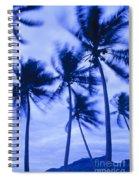 Palms In Storm Wind-bora Bora Tahiti Spiral Notebook