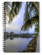 Palms Over The Waterway Spiral Notebook