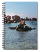 Palombaggia Beach And Rocks, Corsica Spiral Notebook