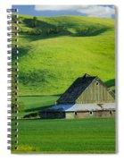 Palouse Grey Barn Spiral Notebook