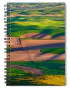 Palouse Ocean Of Wheat Spiral Notebook