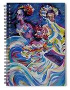Panama Carnival. Folk Dancers Spiral Notebook