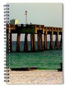 Panama City Beach Pier 2  Spiral Notebook