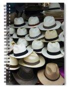 Panama Hats In Ecuador Spiral Notebook
