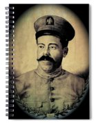 Pancho Villa In Military Uniform Drawing No  Date-2013  Spiral Notebook
