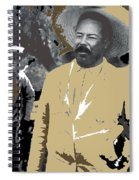 Pancho Villa  Wearing Sombrero Unknown Location 1914-1920-2013 Spiral Notebook