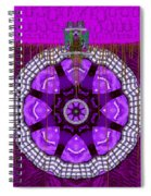 Panda On Top Of The World Spiral Notebook
