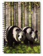 Pandas In A Bamboo Forest Spiral Notebook