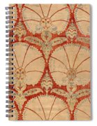 Panel Of Red Cut Velvet With Carnation Spiral Notebook