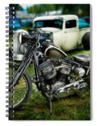 Panhead Harley And Ford Pickup Spiral Notebook