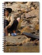 Panning For Gold Mekong River 1 Spiral Notebook