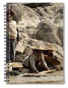 Panning For Gold Mekong River 2 Spiral Notebook
