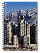 Pano Vancouver Snowy Skyline Spiral Notebook