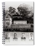 Panorama Alcatraz Infamous Inmates Black And White Spiral Notebook