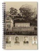 Panorama Alcatraz Infamous Inmates Sepia Spiral Notebook