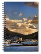 Panorama Cape Town Harbour At Sunset Spiral Notebook