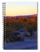 Panorama Morning View Of Mountains Spiral Notebook