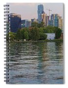 Panorama Of Coal Harbour And Vancouver Skyline At Dusk Spiral Notebook