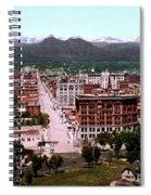 Panorama Of Denver Spiral Notebook