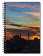 Panorama Of Istanbul Sunset- Call To Prayer Spiral Notebook