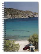 Panorama Of Mandrakia Fishing Village Milos Greece Spiral Notebook