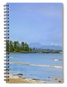 Panorama Of Pacific Coast On Vancouver Island Spiral Notebook
