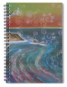 Panorama Of Pch At Big Sur Spiral Notebook