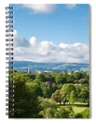 Panorama Of Phoenix Park And Wicklow Mountains Spiral Notebook